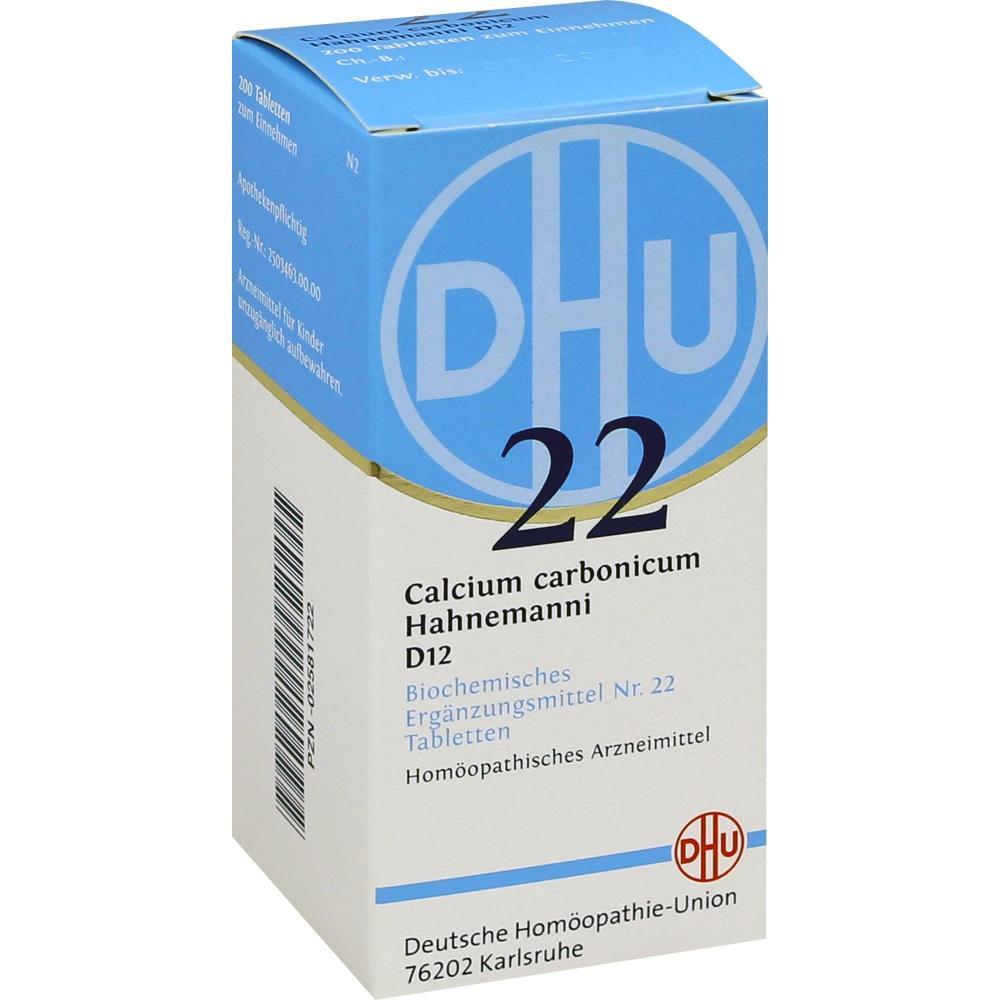 02581722, BIOCHEMIE DHU 22 CALCIUM CARBONICUM HAHNEMANNI D12, 200 ST