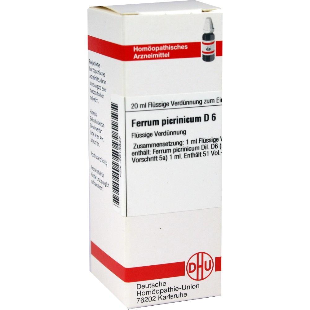 FERRUM PICRINICUM D 6 Dilution