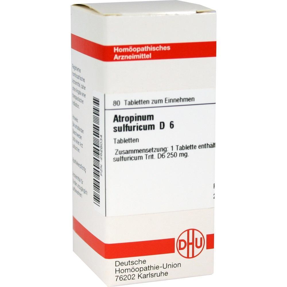 ATROPINUM SULFURICUM D 6 Tabletten