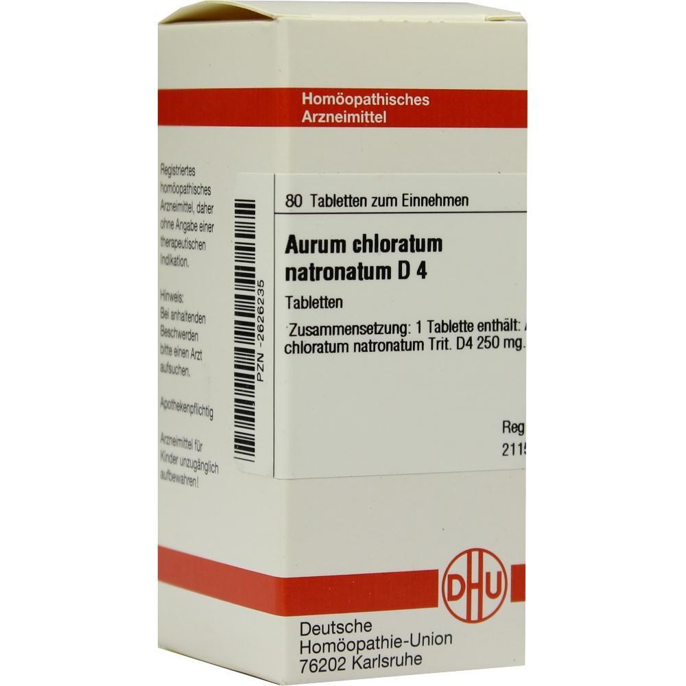 AURUM CHLORATUM NATRONATUM D 4 Tabletten