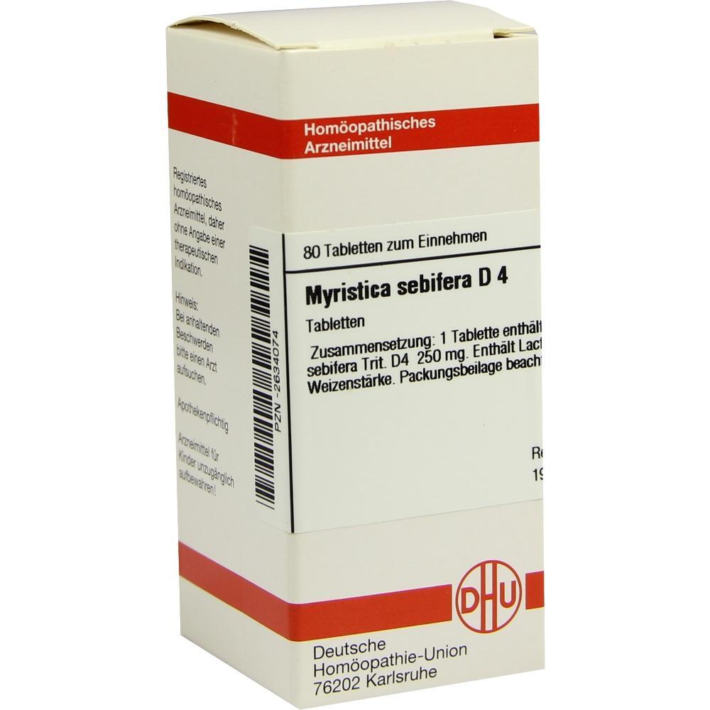 MYRISTICA SEBIFERA D 4 Tabletten