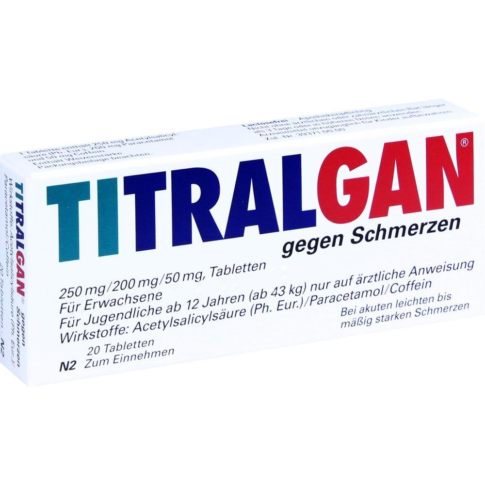 02653278, Titralgan gegen Schmerzen, 20 ST