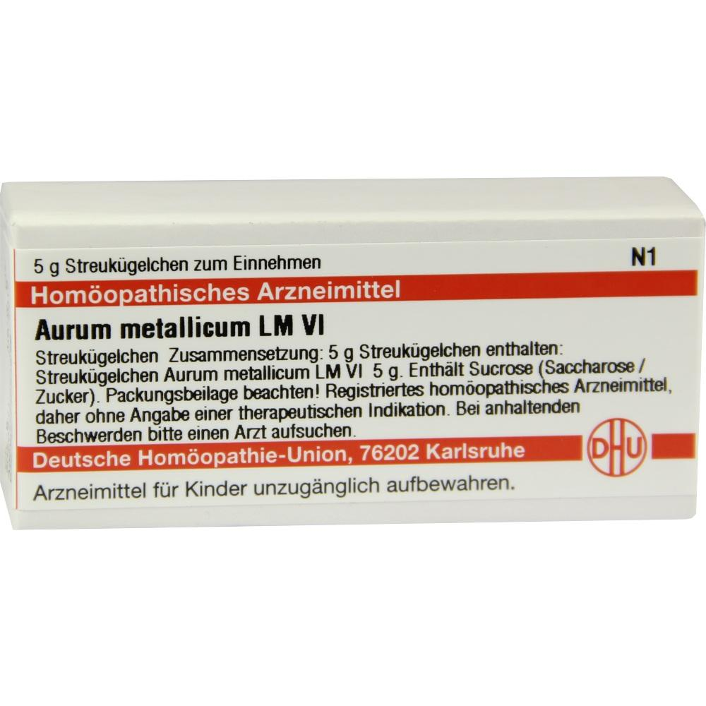LM AURUM metallicum VI Globuli