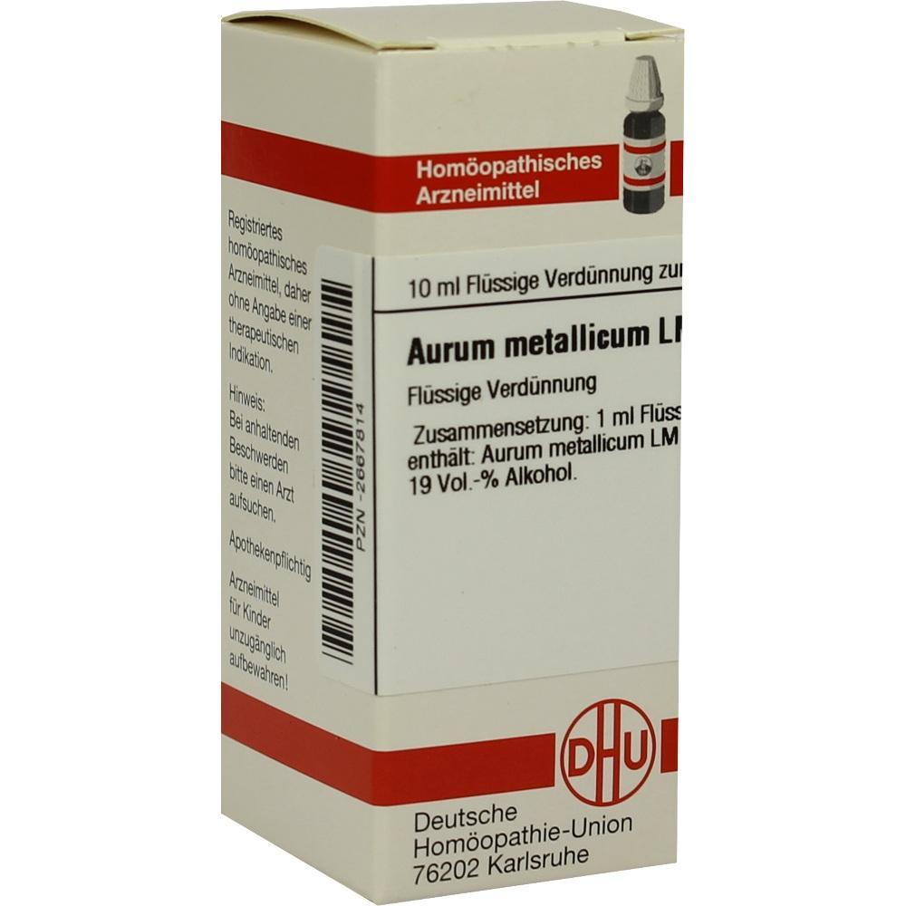LM AURUM metallicum XVIII Dilution