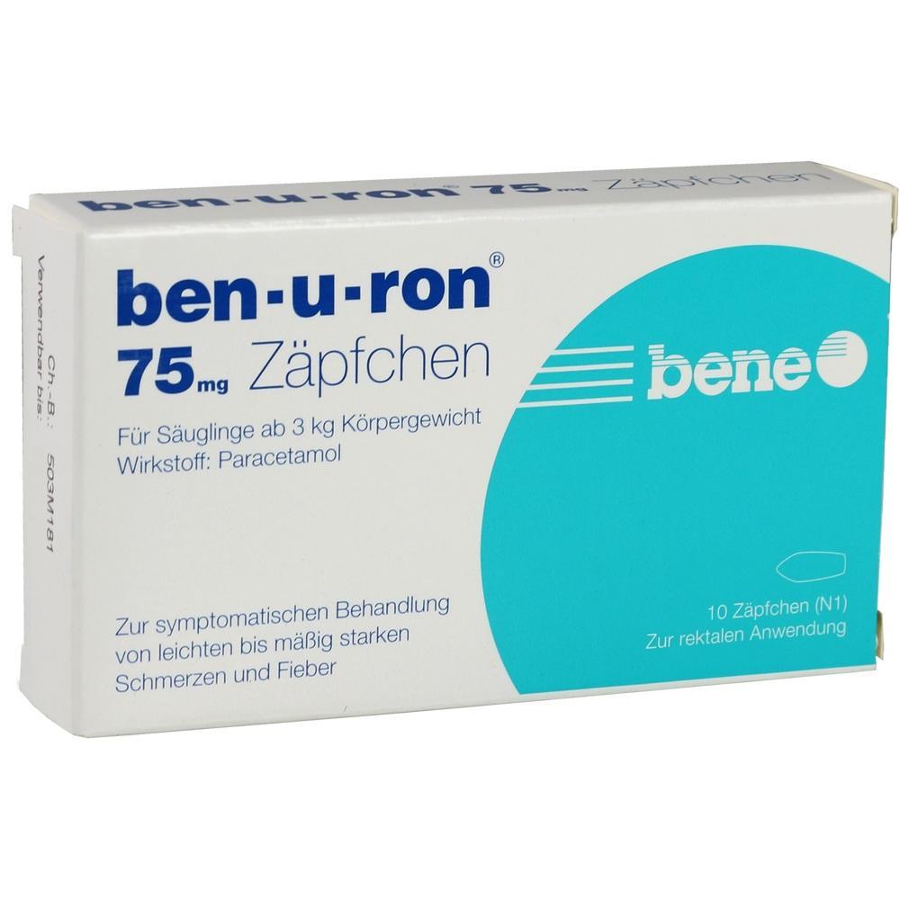 02684876, ben-u-ron 75mg Zäpfchen, 10 ST