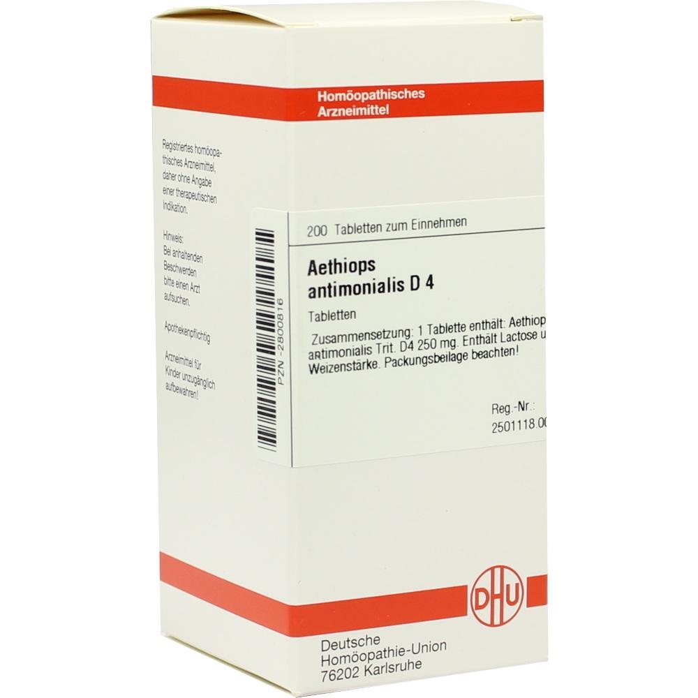 AETHIOPS ANTIMONIALIS D 4 Tabletten