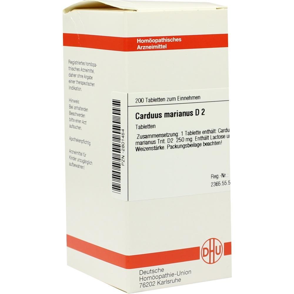 CARDUUS MARIANUS D 2 Tabletten