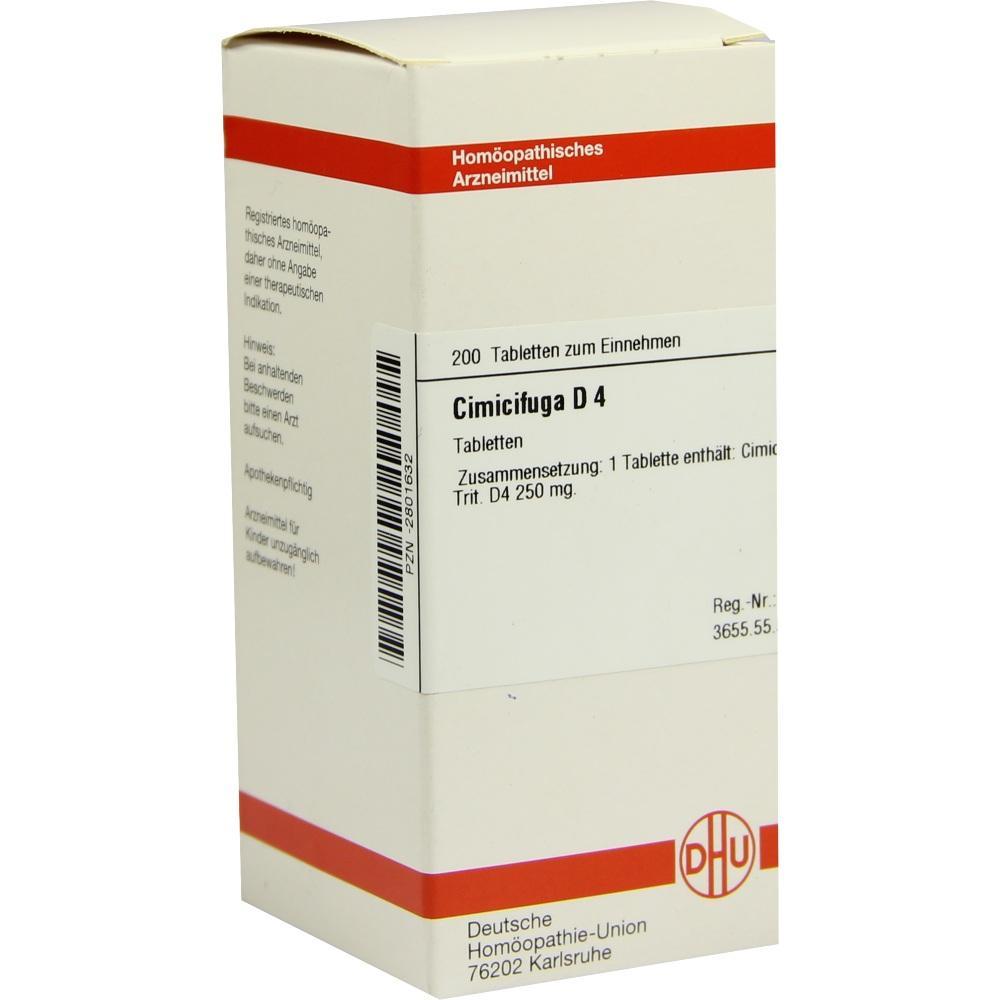 CIMICIFUGA D 4 Tabletten