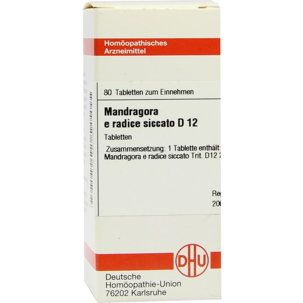 MANDRAGORA E radice siccata D 12 Tabletten
