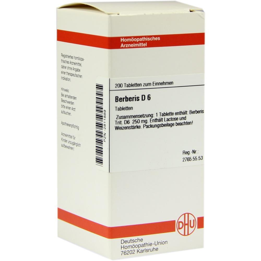 BERBERIS D 6 Tabletten