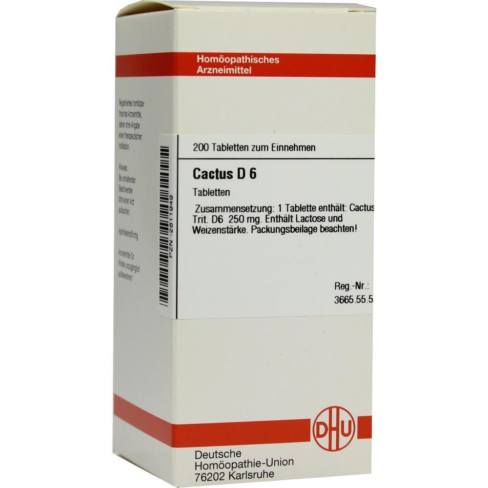 CACTUS D 6 Tabletten