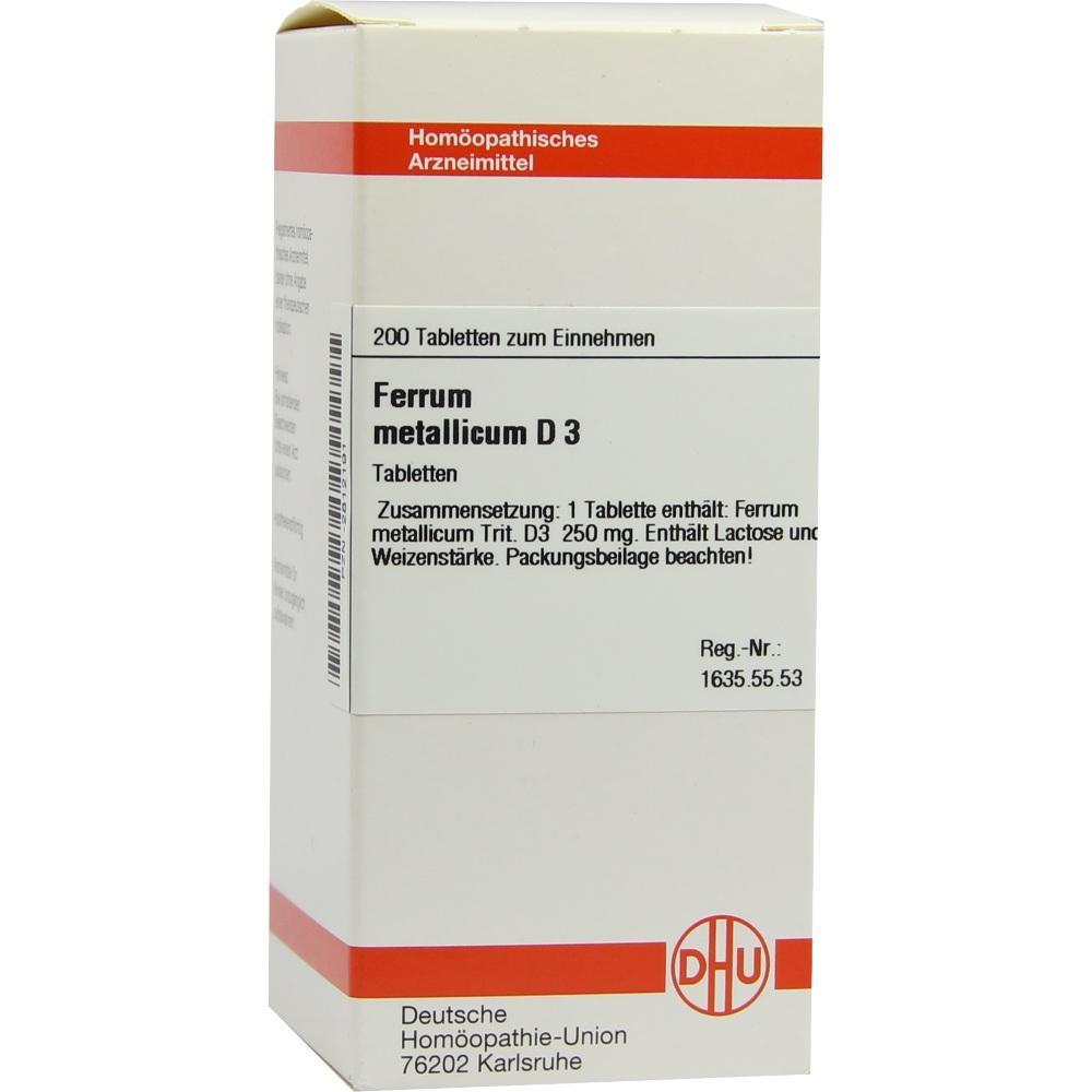 FERRUM METALLICUM D 3 Tabletten