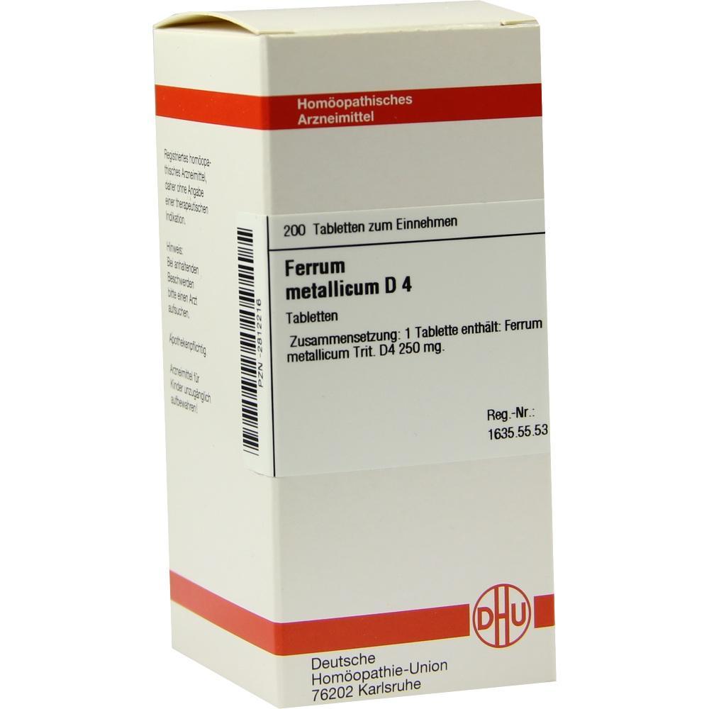 FERRUM METALLICUM D 4 Tabletten