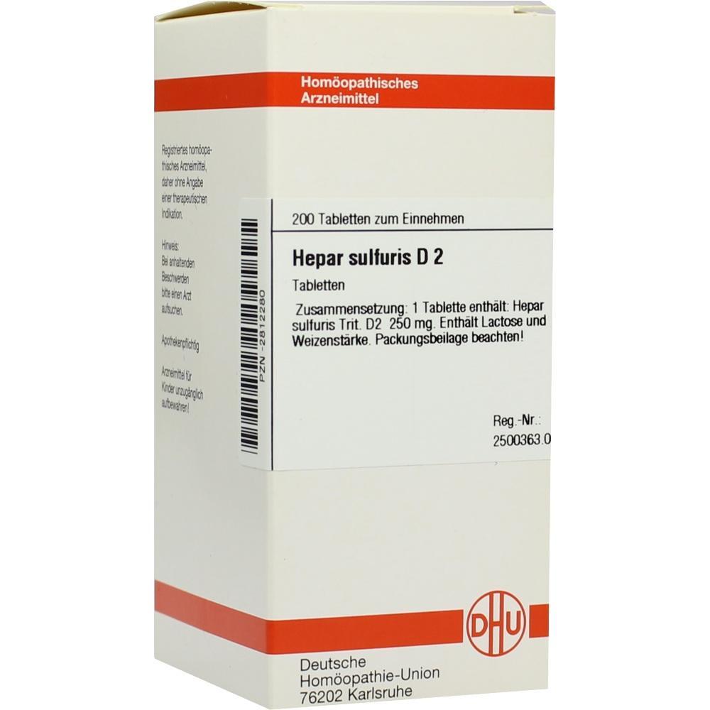 HEPAR SULFURIS D 2 Tabletten