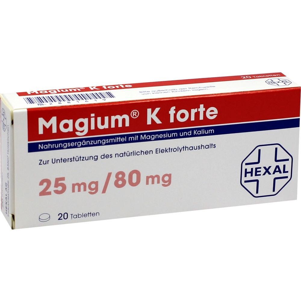 02881619, Magium K forte Tabletten, 20 ST