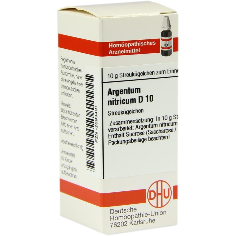 ARGENTUM NITRICUM D 10 Globuli
