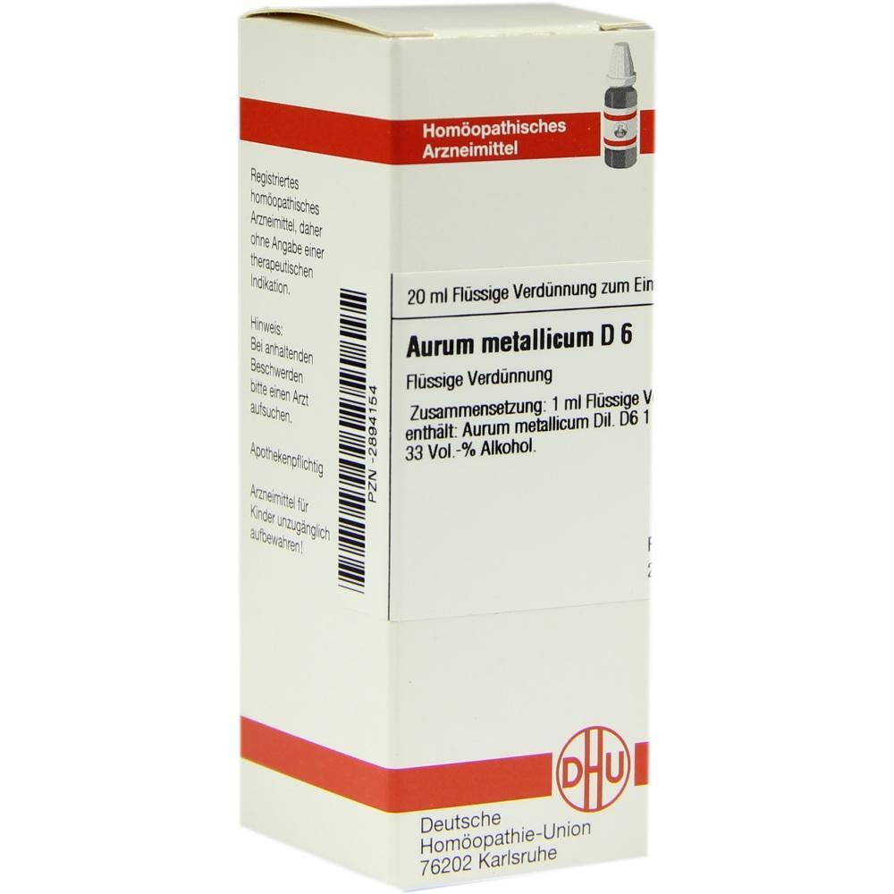 AURUM METALLICUM D 6 Dilution