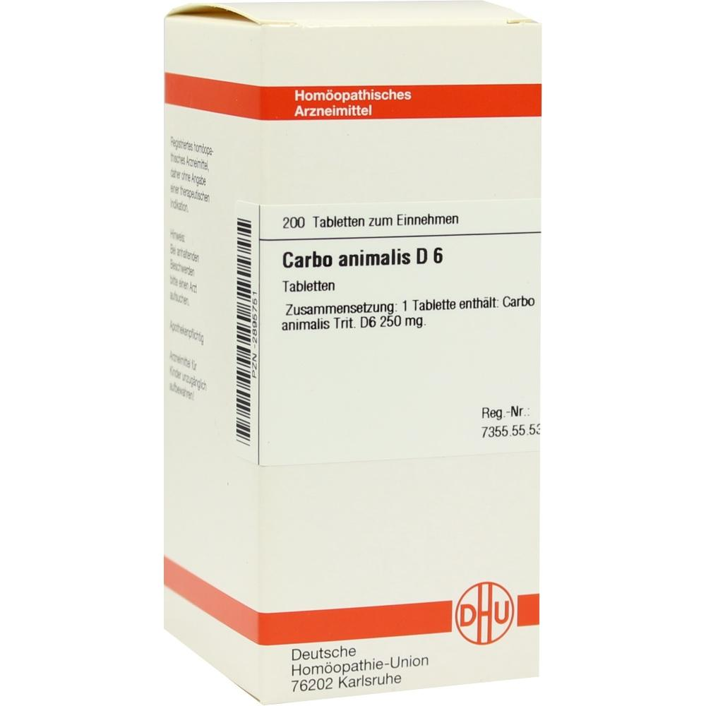 CARBO ANIMALIS D 6 Tabletten