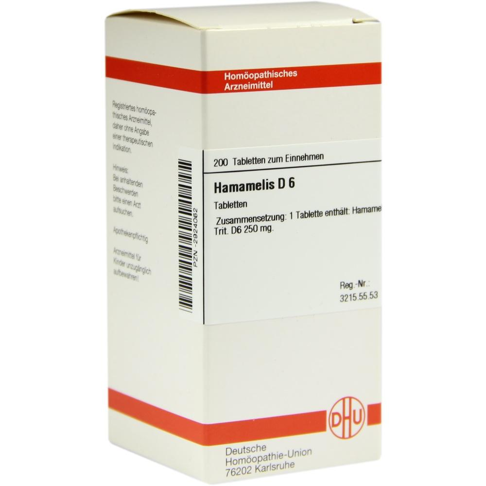 HAMAMELIS D 6 Tabletten