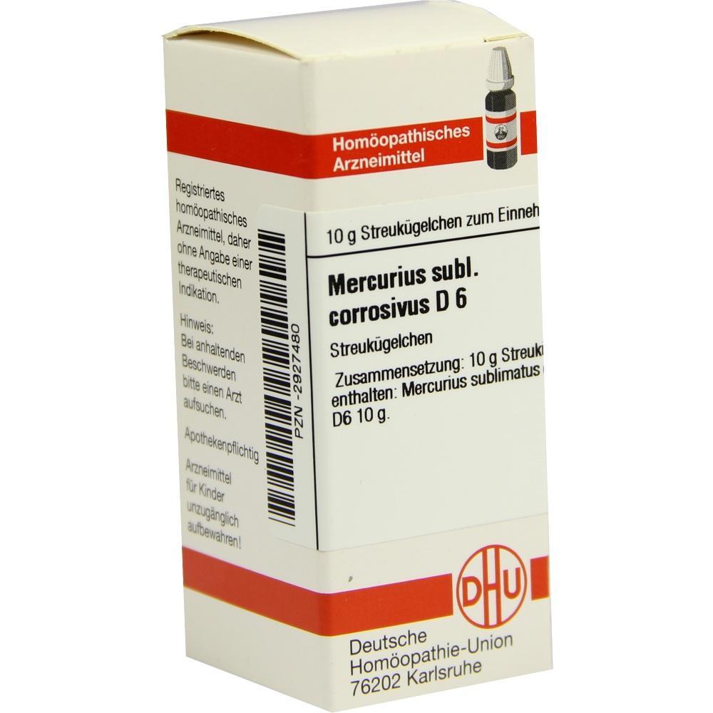 MERCURIUS SUBLIMATUS corrosivus D 6 Globuli