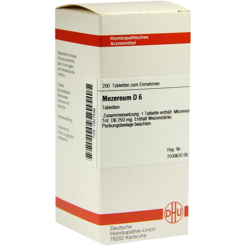 MEZEREUM D 6 Tabletten