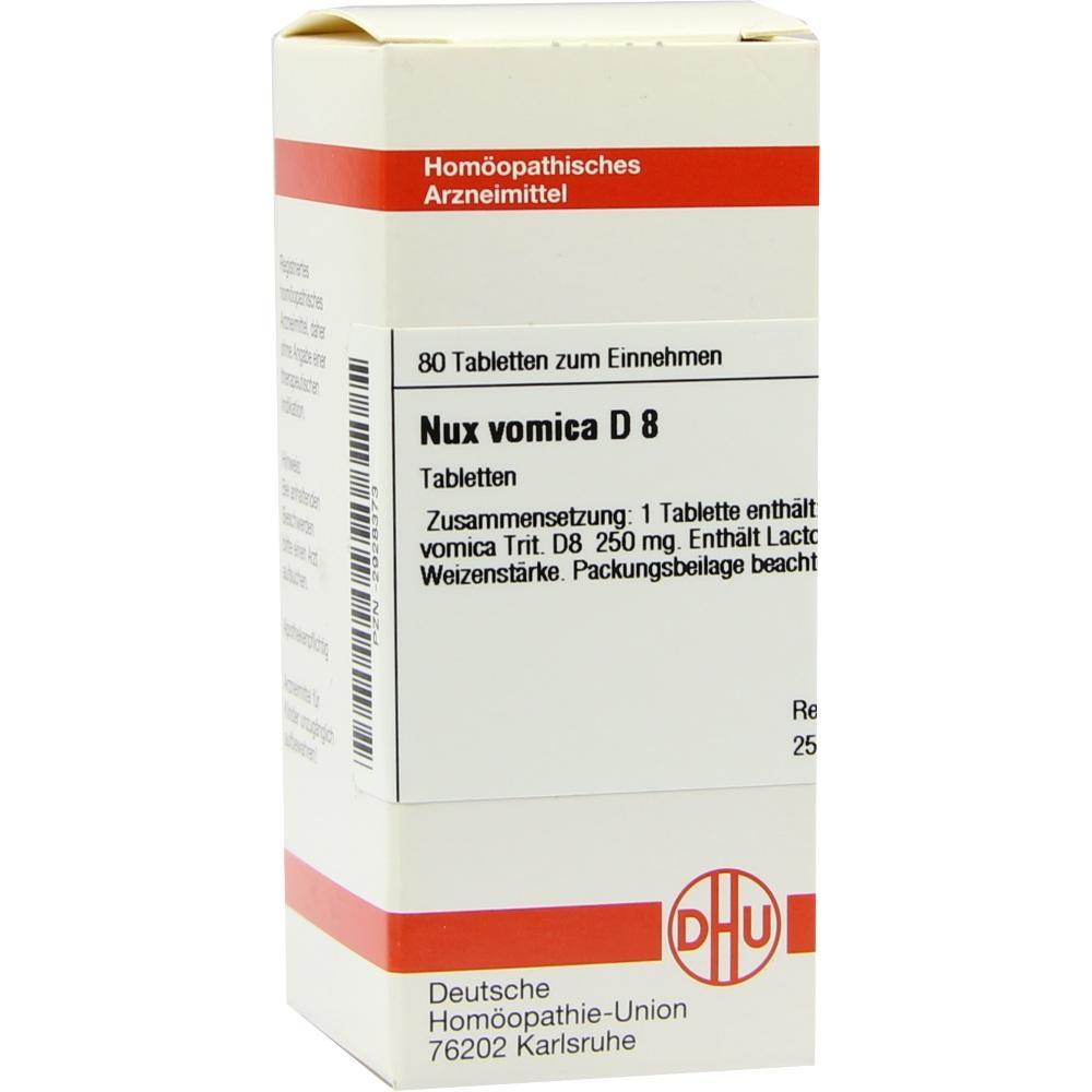 NUX VOMICA D 8 Tabletten