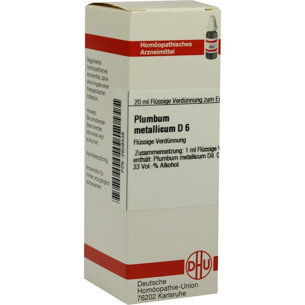 PLUMBUM METALLICUM D 6 Dilution
