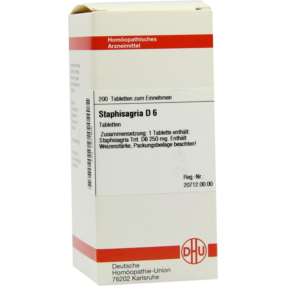 STAPHISAGRIA D 6 Tabletten
