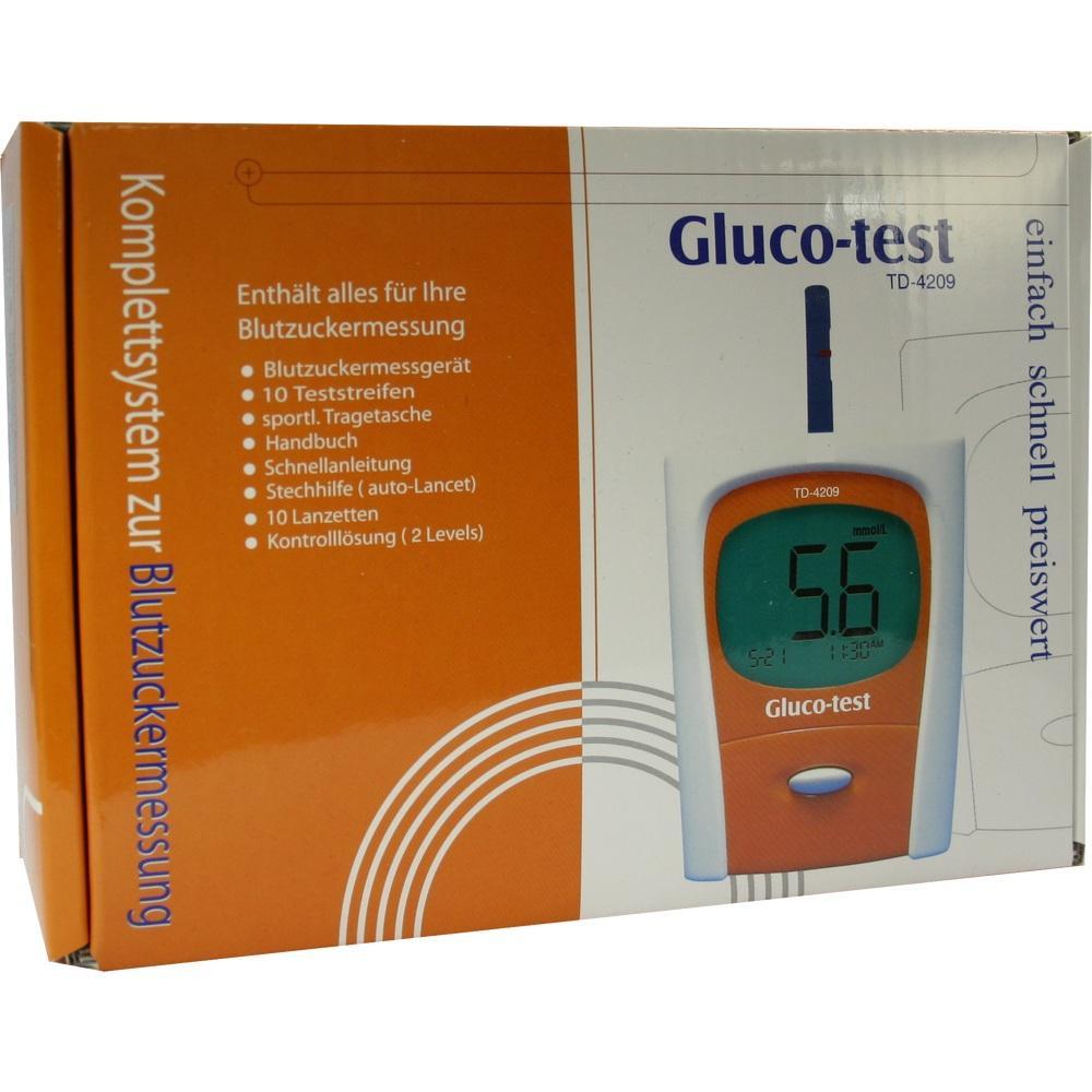 GLUCO TEST Starterset in mmol/l orange