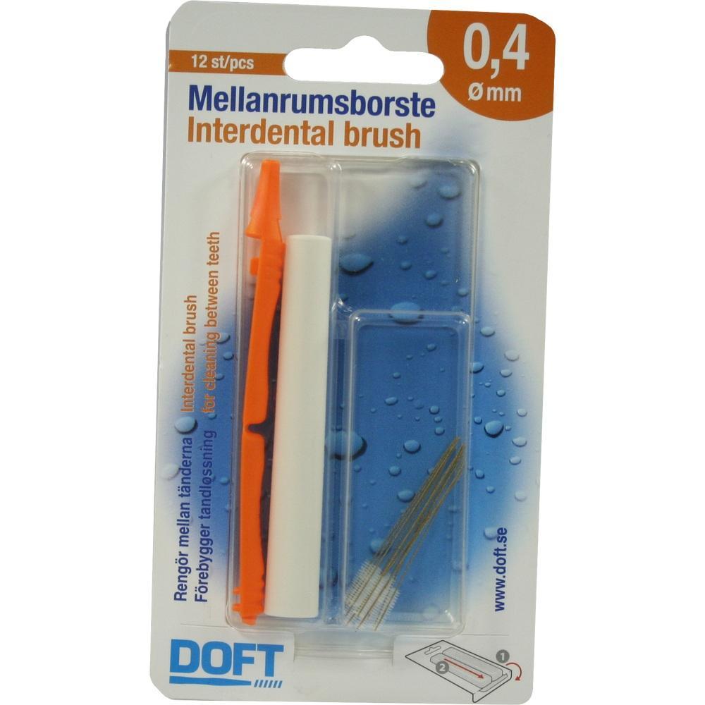 03109418, Interdentalbürste 0.4 mit Wechselgriff Doft, 12 ST