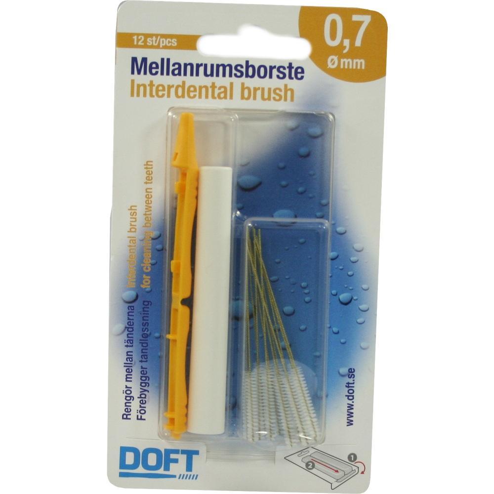 03109453, Interdentalbürste 0.7 mit Wechselgriff Doft, 12 ST