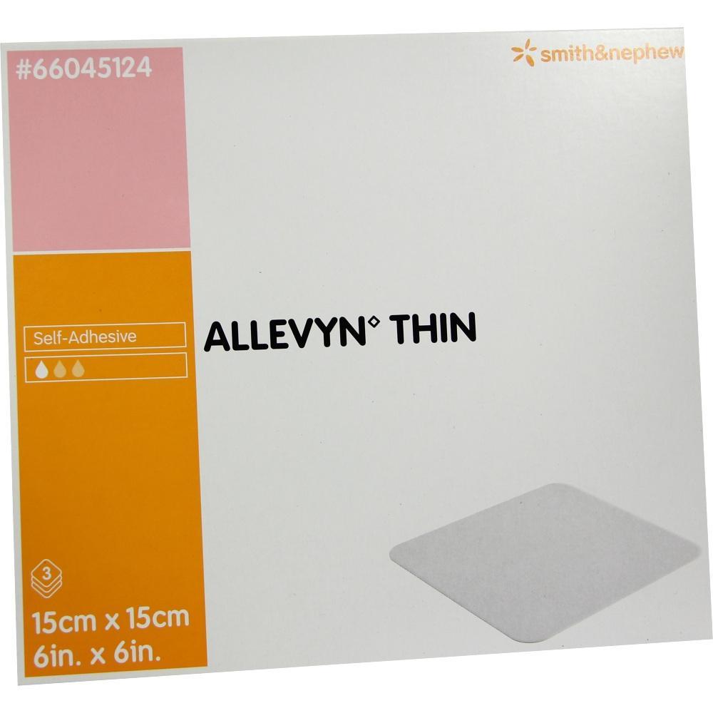 ALLEVYN Thin 15x15 cm dünne Wundauflage