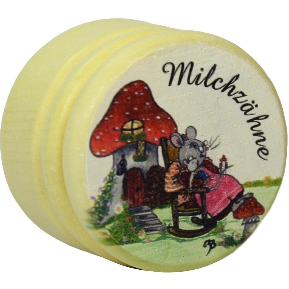 03150220, Milchzahndose Holz bunt mit Bild groß, 1 ST
