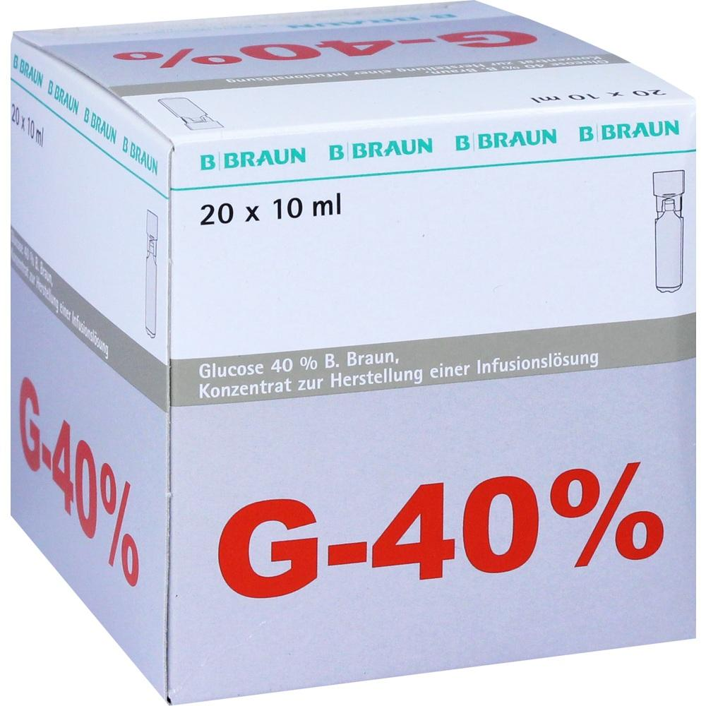 Glucose 40% B Braun Infusionslösungskonzentrat