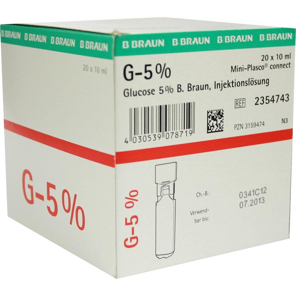 GLUCOSE 5% B.Braun Mini Plasco connect Inj.-Lsg.