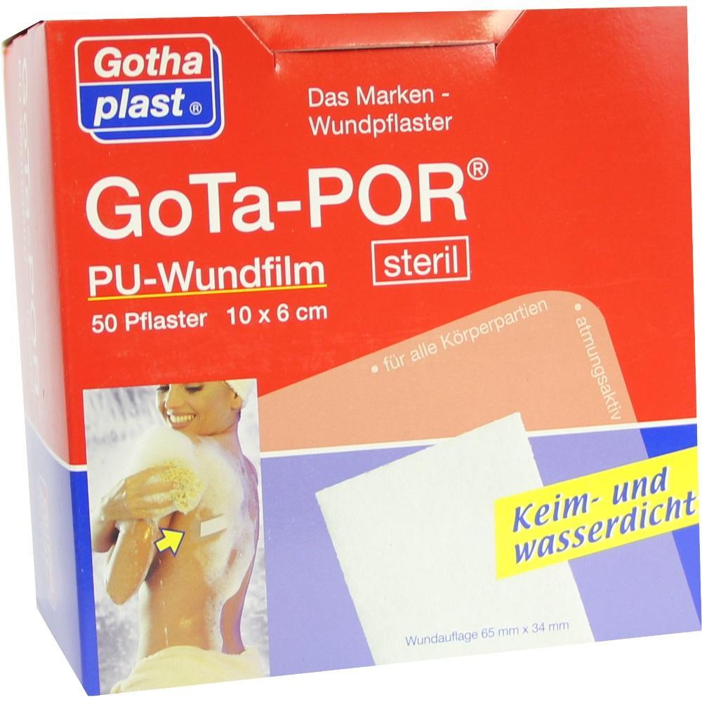 GOTA-POR PU Wundfilm 10x6 cm steril Pflaster