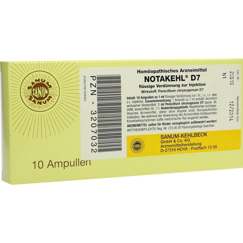 NOTAKEHL D 7 Ampullen
