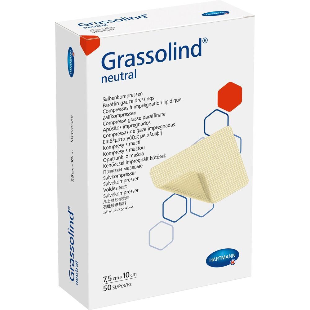 GRASSOLIND Salbenkompressen 7,5x10 cm steril