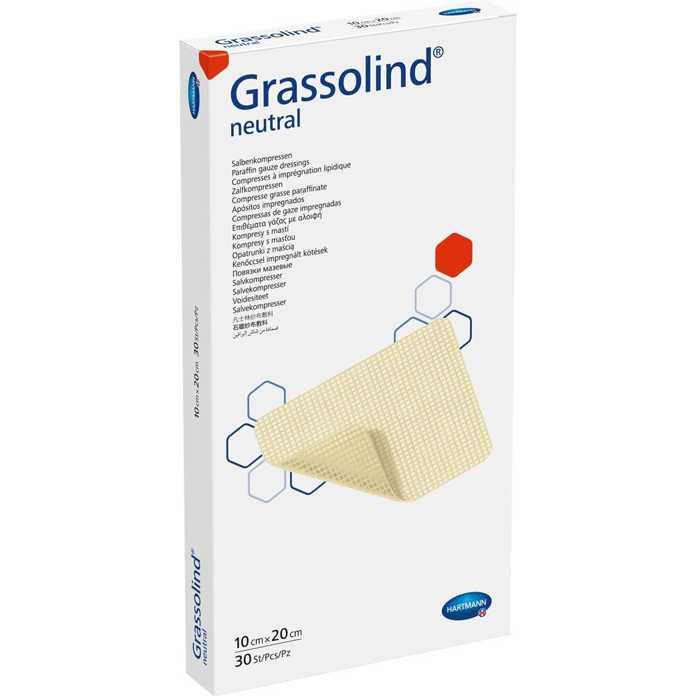 GRASSOLIND Salbenkompressen 10x20 cm steril