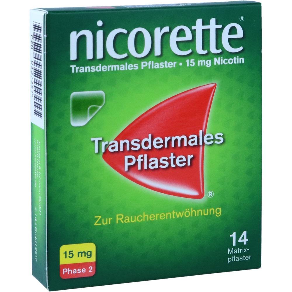 03273514, Nicorette TX Pflaster 15mg, 14 ST