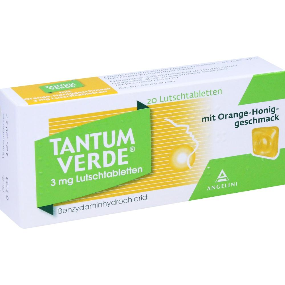 03335557, Tantum Verde 3mg mit Orange-Honiggeschmack, 20 ST