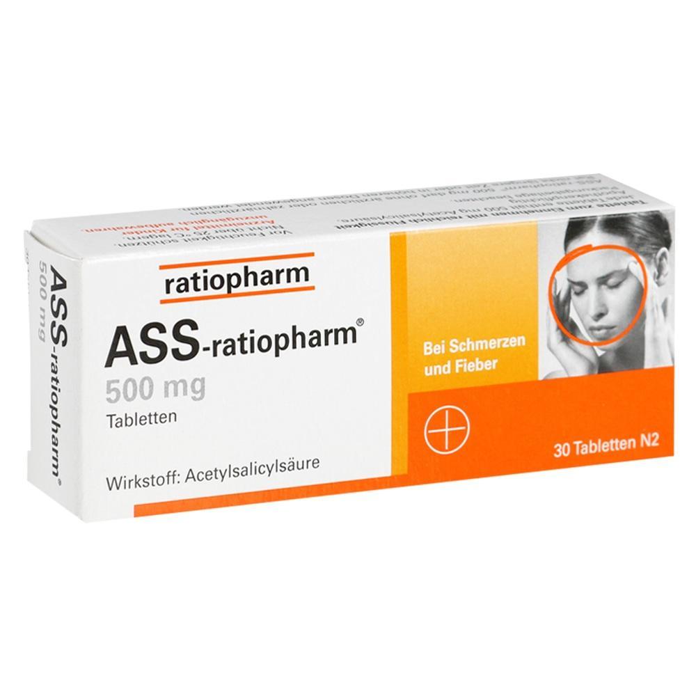 03403885, ASS-ratiopharm 500mg, 30 ST