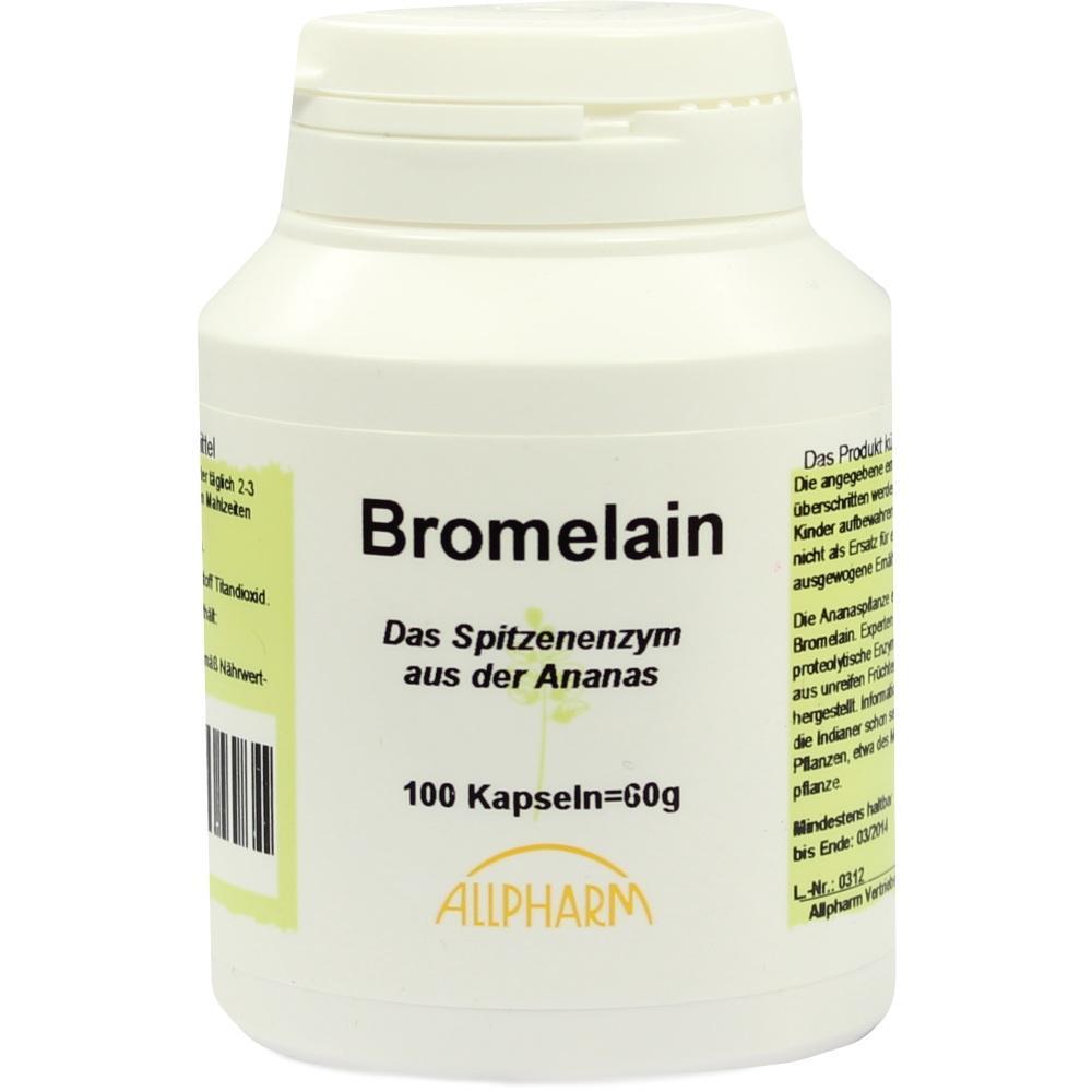 03404235, Bromelain Enzym Kapseln, 100 ST
