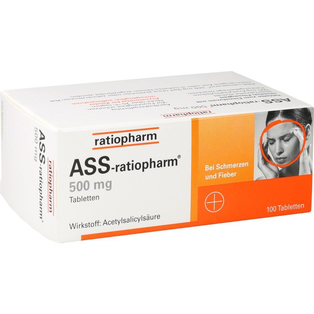 03416422, ASS-ratiopharm 500mg, 100 ST