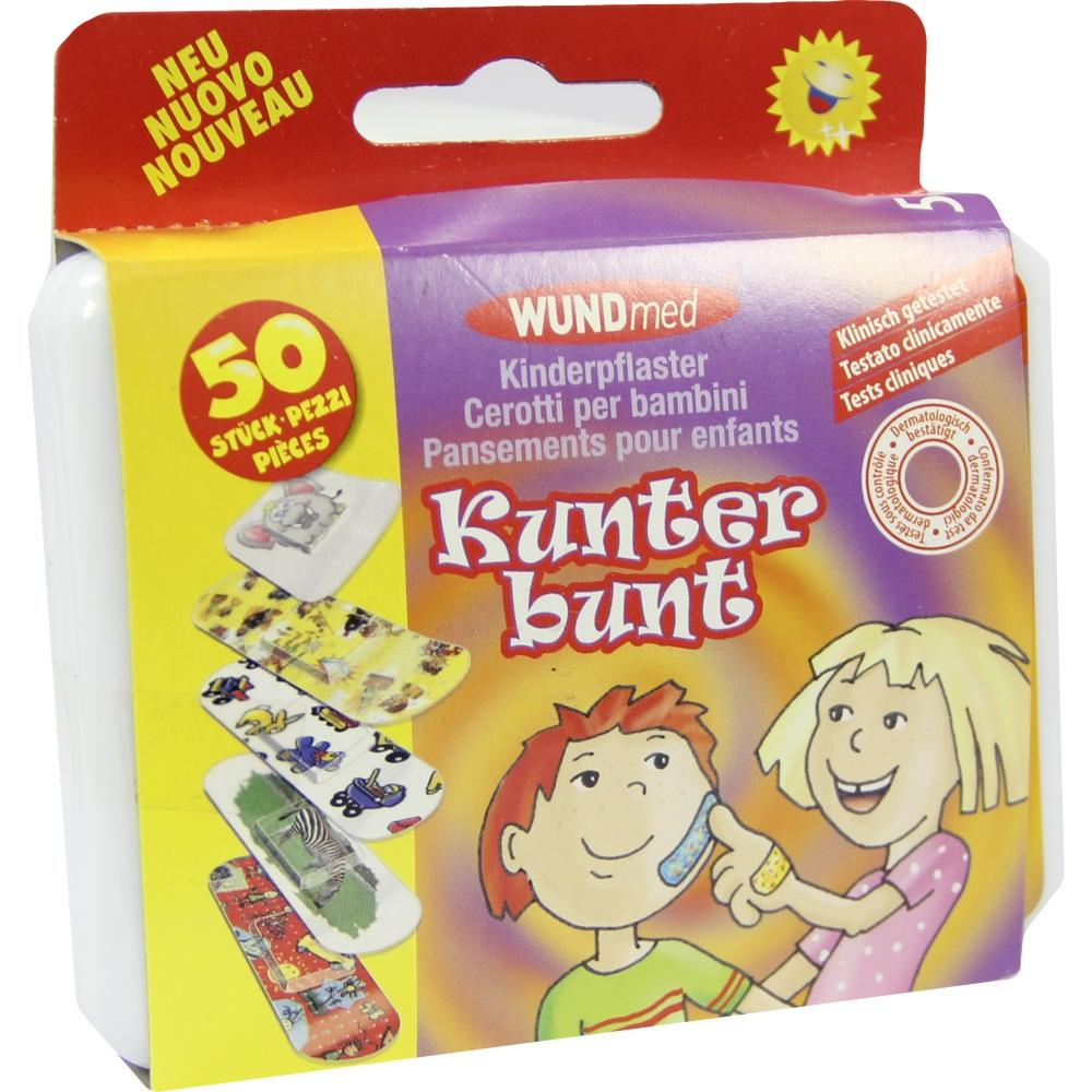 03424605, Kinderpflaster Kunterbunt, 50 ST