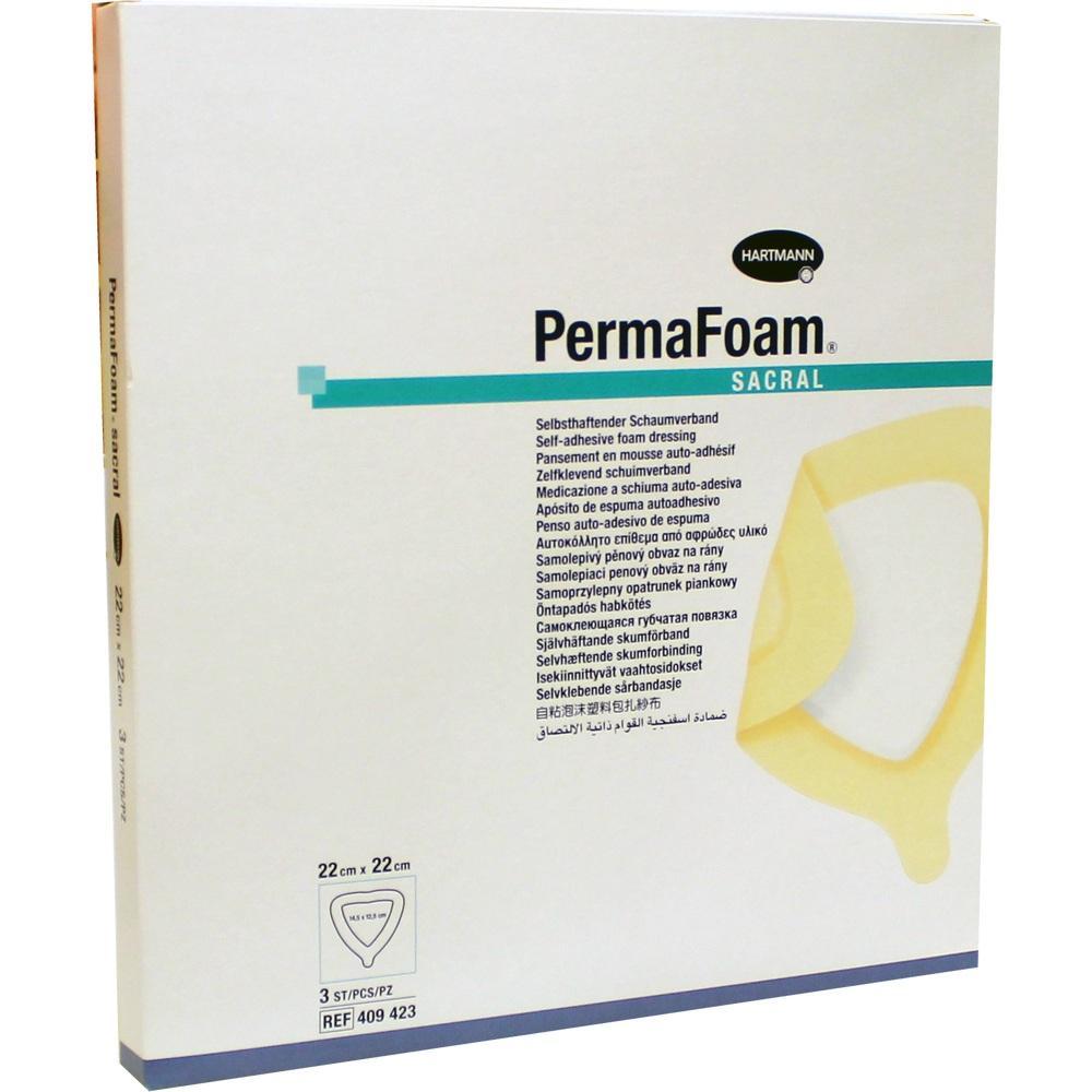PERMAFOAM Sacral Schaumverband 22x22 cm