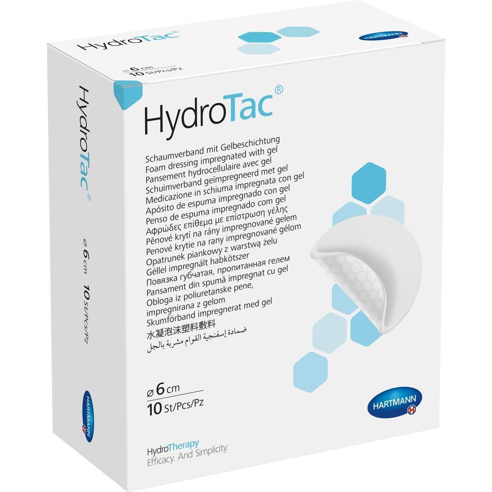 HYDROTAC Schaumverband 6 cm rund steril