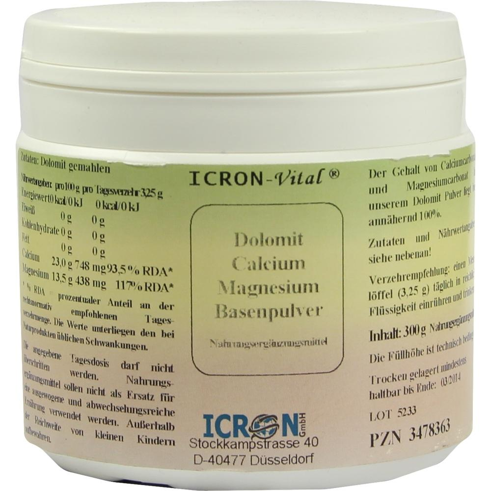 03478363, Dolomit Calcium Magnesium Basen Pulver Icron Vital, 300 G