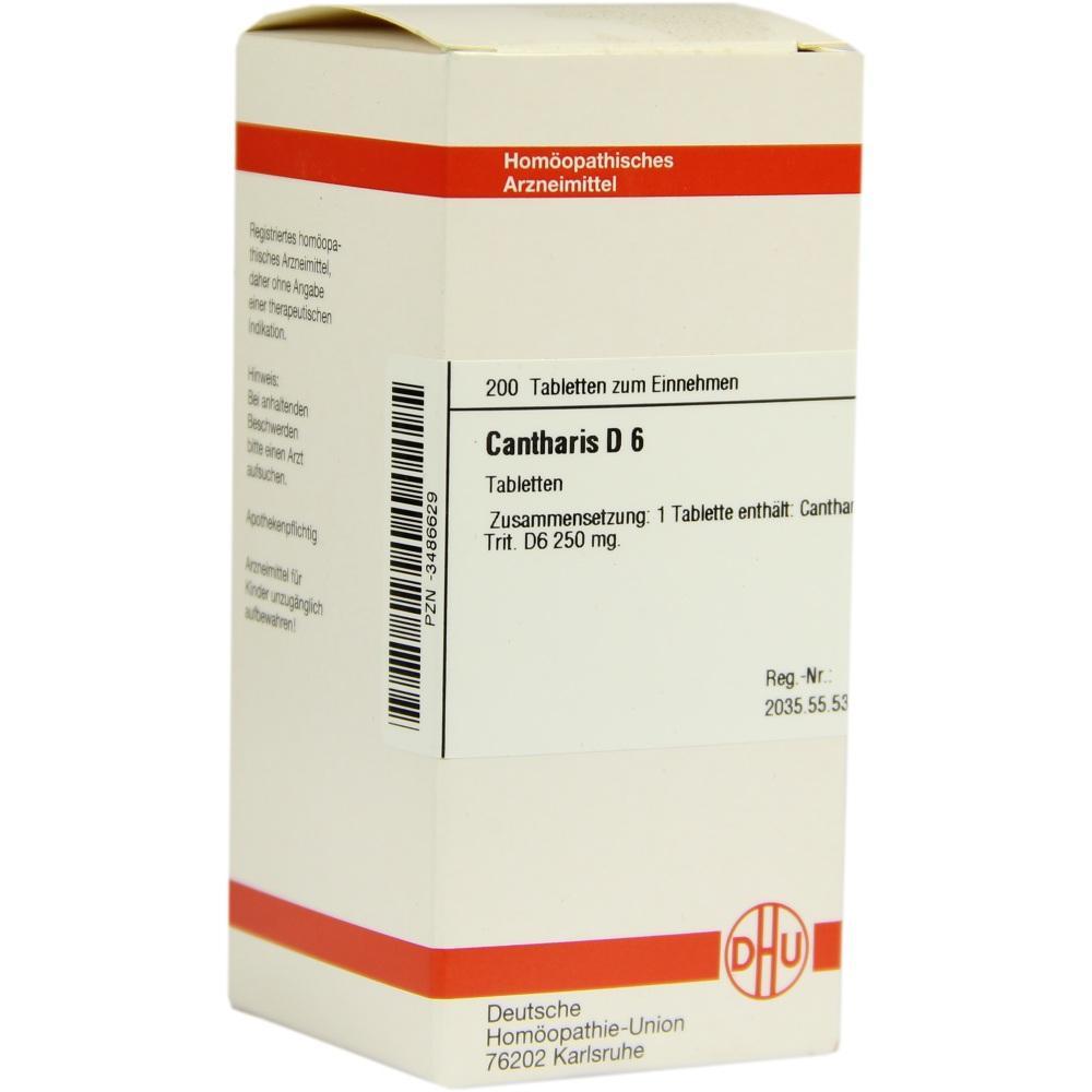 CANTHARIS D 6 Tabletten