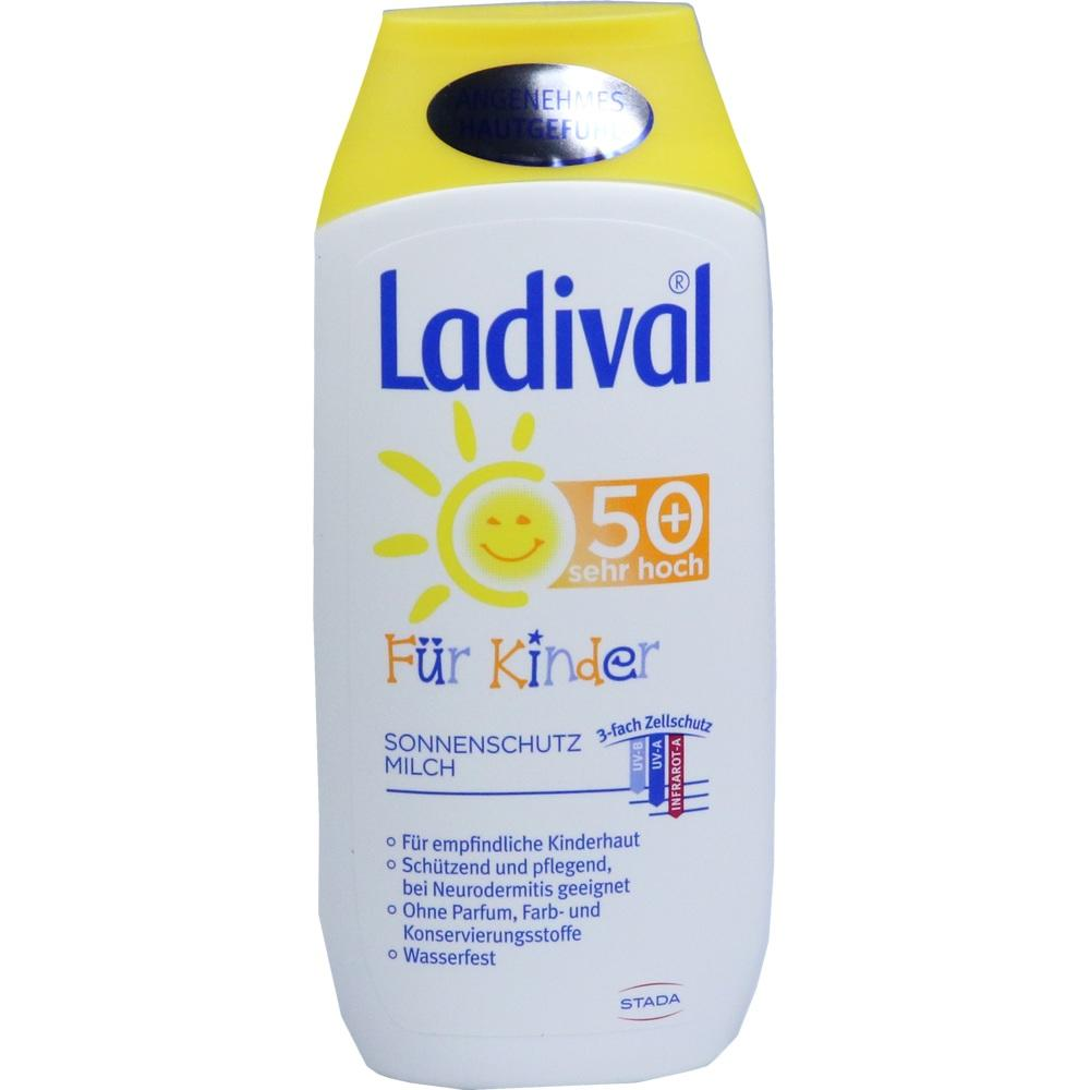 03518648, Ladival Kinder Sonnenmilch LSF50+, 200 ML